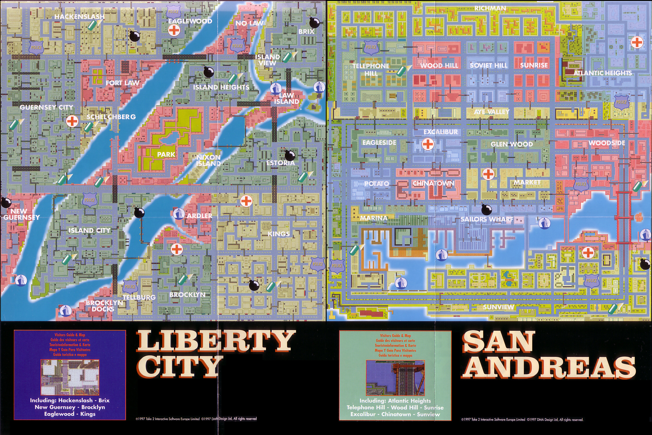 Grand Theft Auto covers, maps and gameplay through the complete series ...